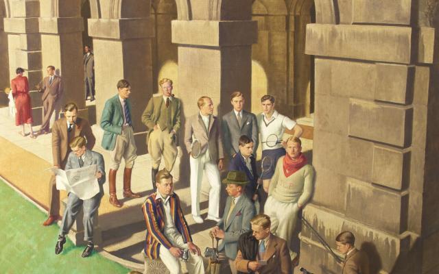Conversation Piece, Worcester College, by Edward Halliday