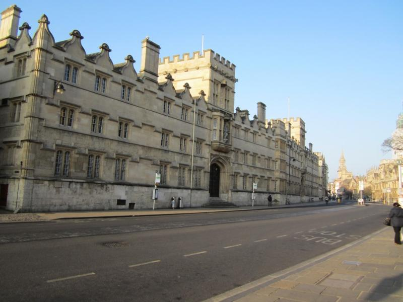 Univ today, from the High Street