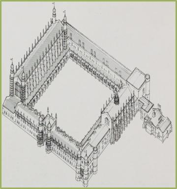 proposed buildings for cardinal college drawn by daphne hart for howard colvins unbuilt oxford